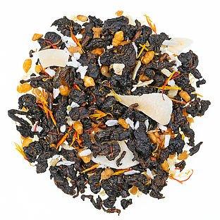 Oolong  Gerösteter Sesam Halbfermentierter Tee mit Fruchtstücken und Sesam, aromatisiert